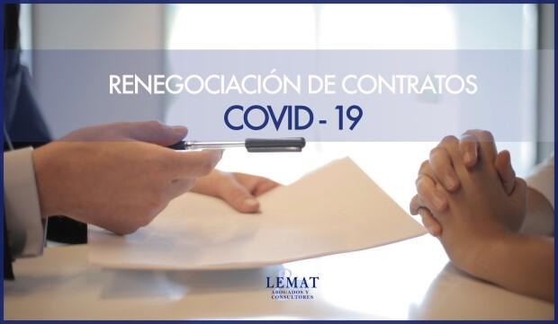 Una oportunidad de renegociación en los contratos afectados por el COVID-19