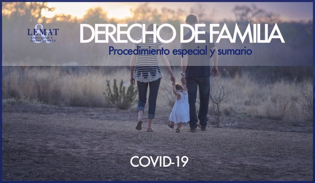 Procedimiento especial y sumario en derecho de familia por la crisis del COVID-19