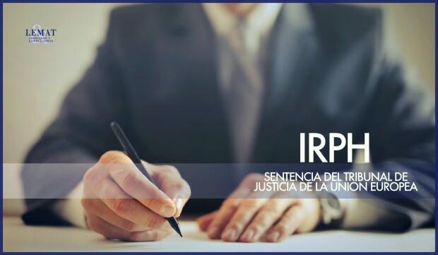 IRPH, Sentencia del TJUE