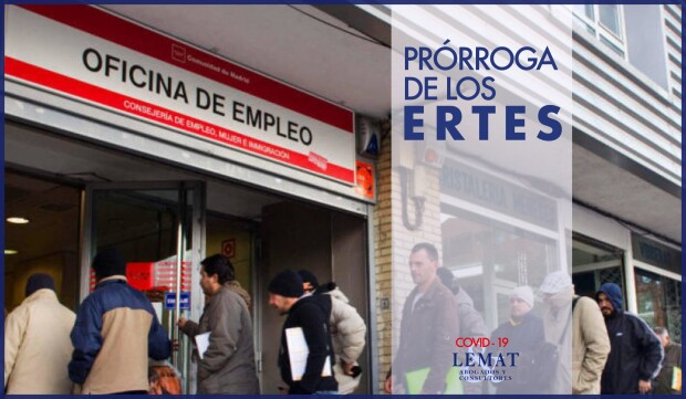 Prórroga de los ERTES en España - COVID-19